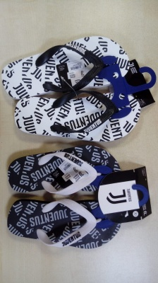 SEA SLIPPER FLIP FLOP BLACK FOR CHILDREN JUVENTUS NEW ORIGINAL