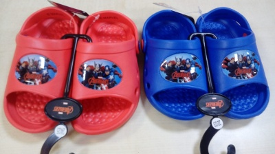 SEA SLIPPER SANDAL BLU AVENGERS FOR CHILDREN NEW ORIGINAL