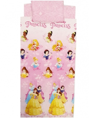 SET COMPLETE SHEET  ONE PILLOW CASE DISNEY PRINCESS TWO SHEETS NEW ORIGINAL